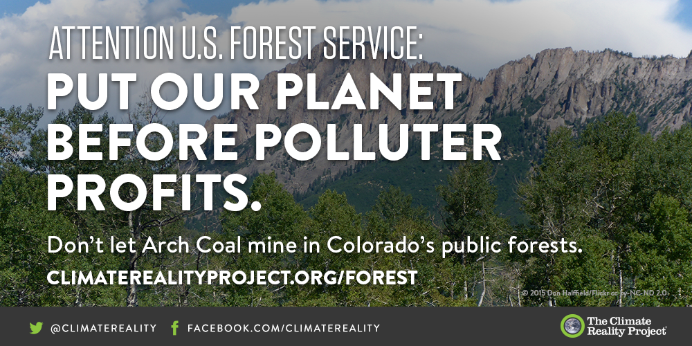 .@ForestService:Put our planet before polluter profits.Don't let @ArchCoal mine our forests! https://t.co/I9VgG8vlIP https://t.co/0BvfwRHTRP