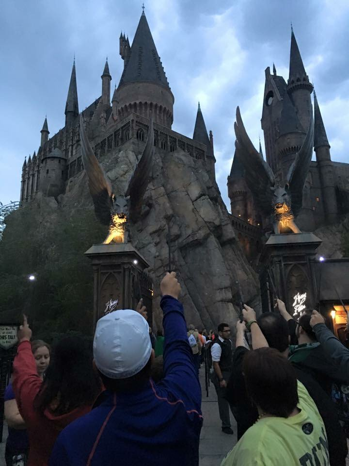 Potter fans paid tribute to #AlanRickman by raising their wands at Hogwarts Castle. More: https://t.co/BpaQv98CD9 https://t.co/3bzSkhhLZn