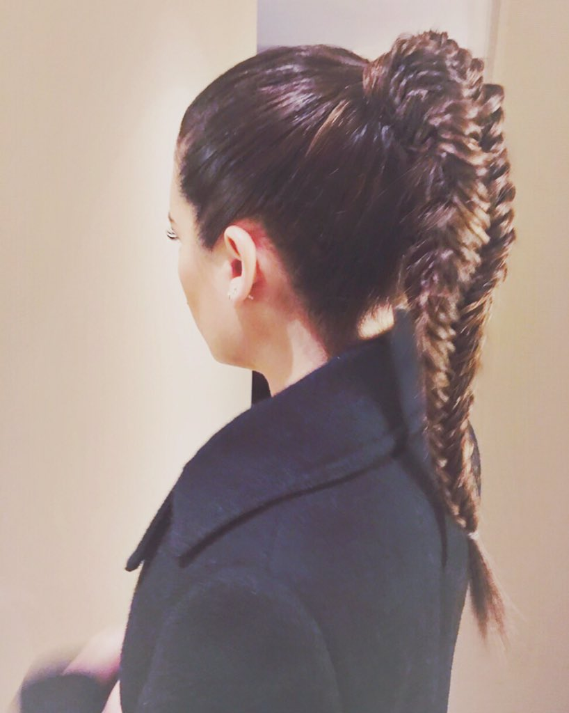 @msleamichele rocking this #fishtail high pony I styled for the #SoulCyclexTarget event in #NYC!