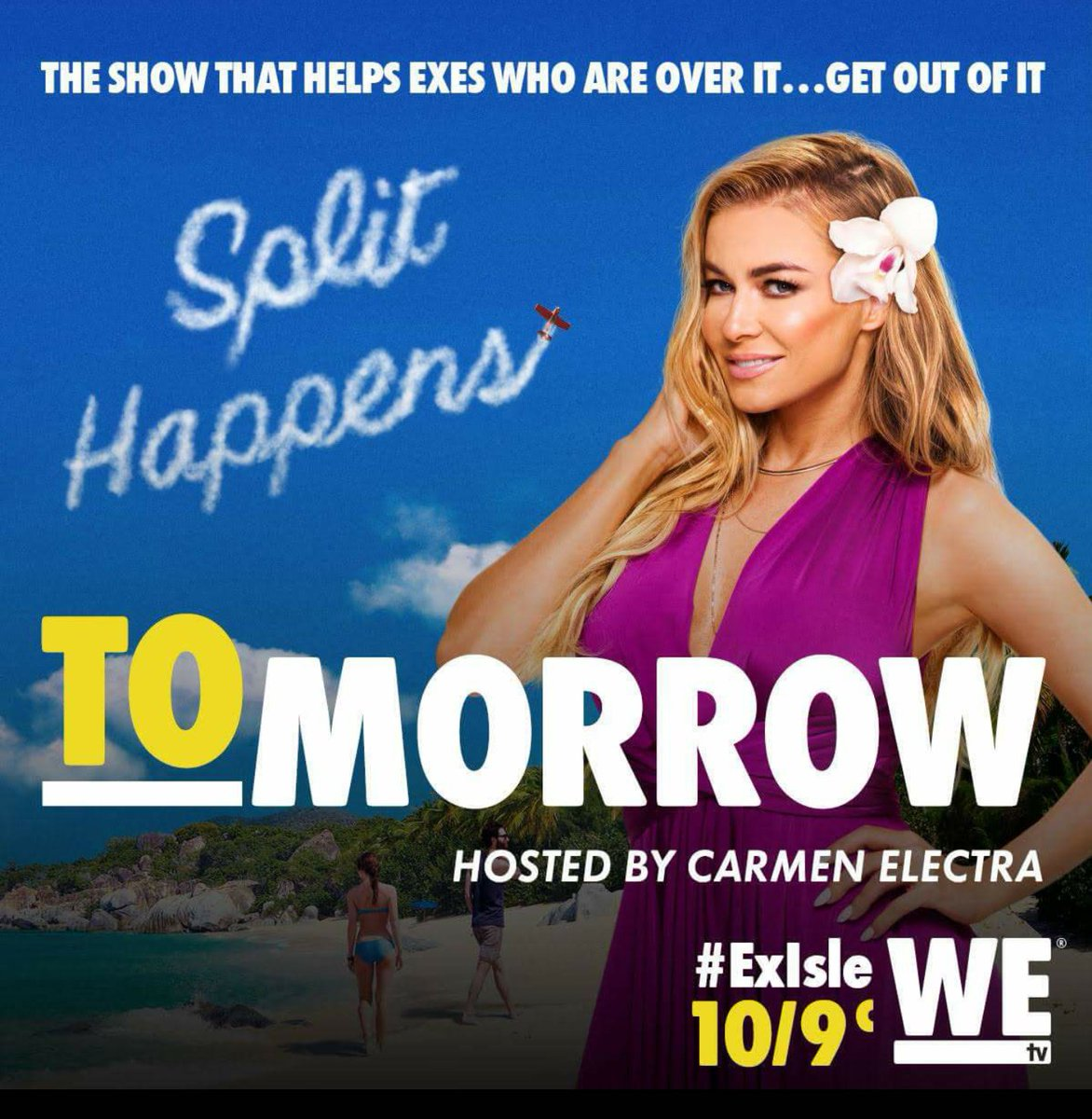 Split happens! Don't miss me and all the drama of #ExIsle tomorrow at 10|9c only on @WEtv https://t.co/TaiFPCvAJu