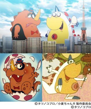 第1話でカメラ怪人に姿を変えられた怪獣はタツノコが誇る2大怪獣「グズラ」(左)と「タマゴン」(右)です!グズラの放映は1