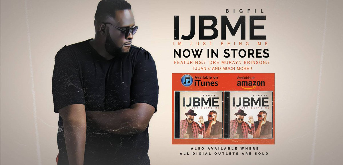 New album from Big Fil! #IJBME available now for download! Get it today! https://t.co/y725tHNtQy https://t.co/8UoUSQVeVR