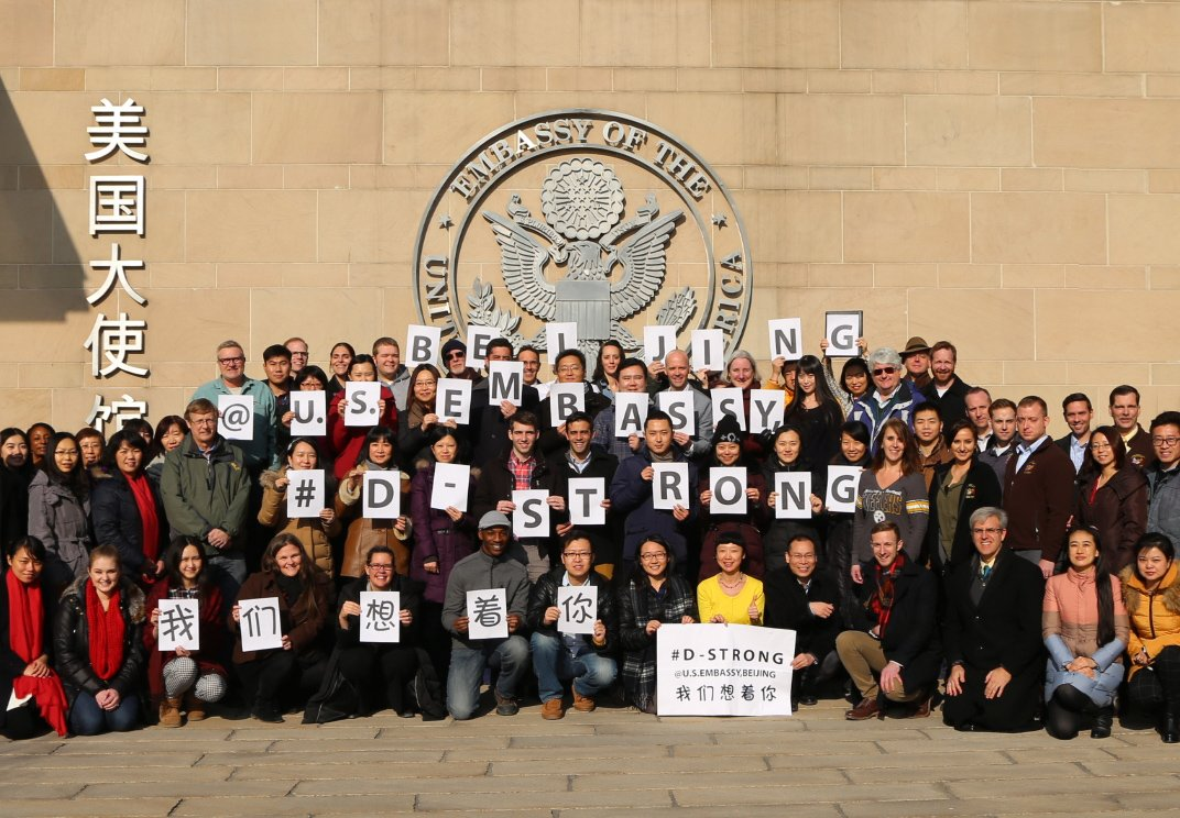 U.S. Embassy Beijing Supports #DStrong for Dorian Murray and his family in Westerly! You are famous to us! https://t.co/PNo9o5HnRt