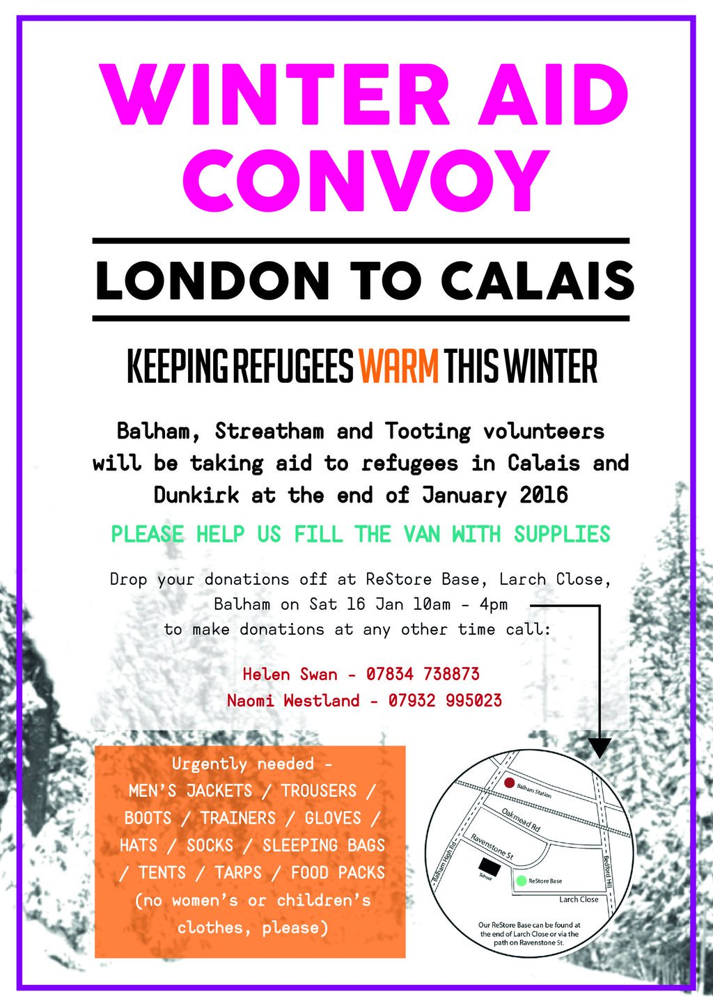 Can any #Tooting, #Balham & #Streatham residents help keep refugees warm by donating this #weekend? https://t.co/tqemW6pM5Y
