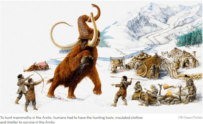 Our ancestors were so bad-ass that even a mammoth in the middle of the camp wouldn't distract them from sewing. https://t.co/cARDycbaP1