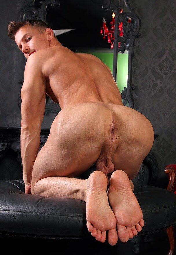 Naked man ass