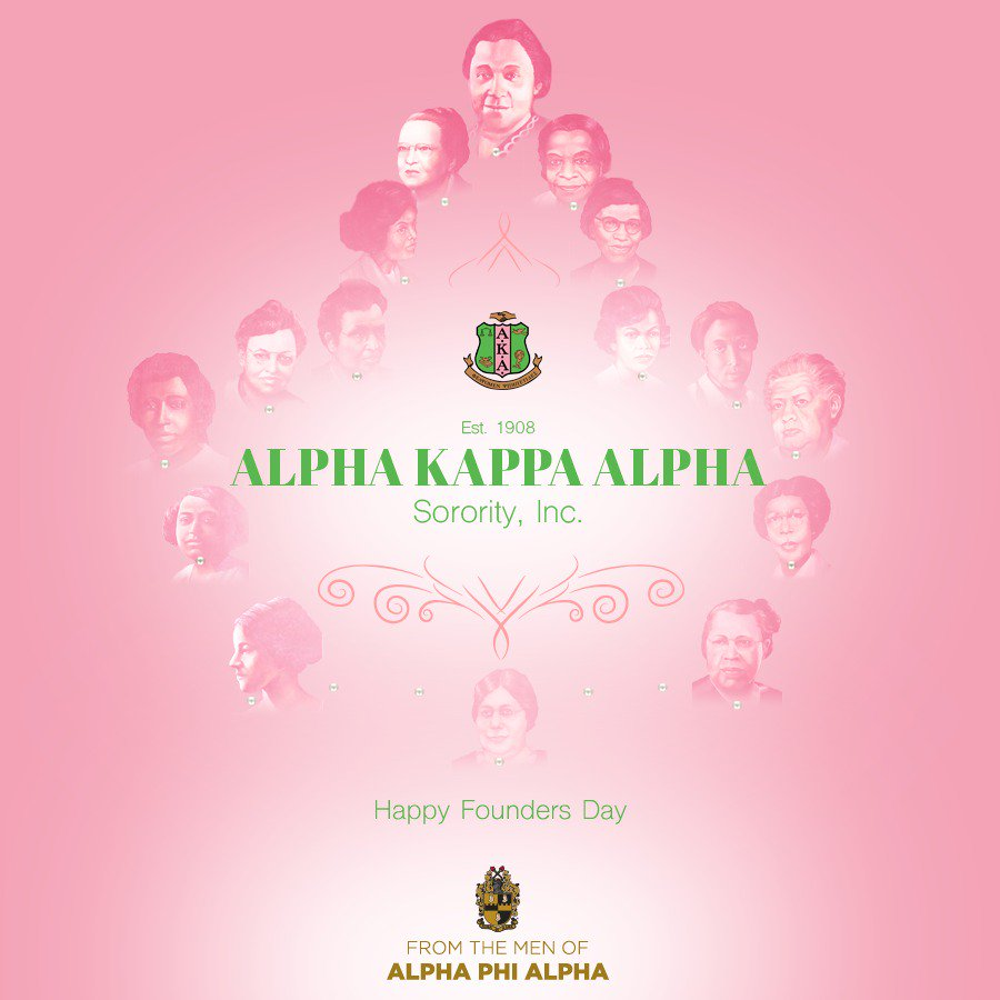 Happy Founders Day to the Ladies of Alpha Kappa Alpha Sorority. @akasorority1908 #AKA108 #AKA1908 https://t.co/YOft2t08Ke