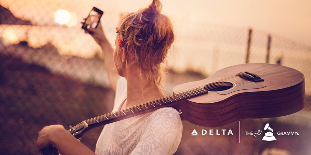 Delta wants to take you to @TheGRAMMYs! Find out how @ NoPurNecUS21+