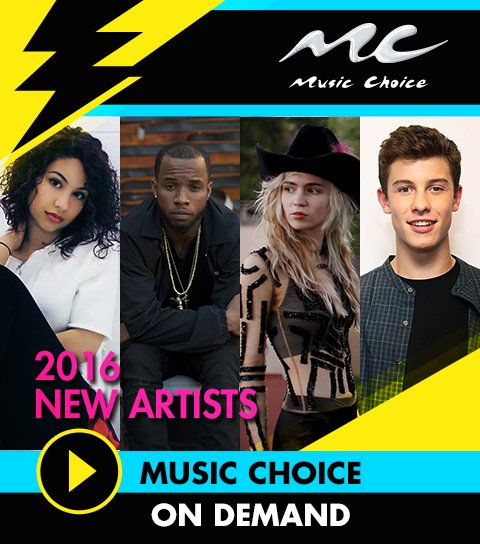 New artists to conquer 2016: @alessiacara, @ShawnMendes & more! Videos on @MusicChoice. https://t.co/ZRLesLwOvB https://t.co/ieZTDBBo1h