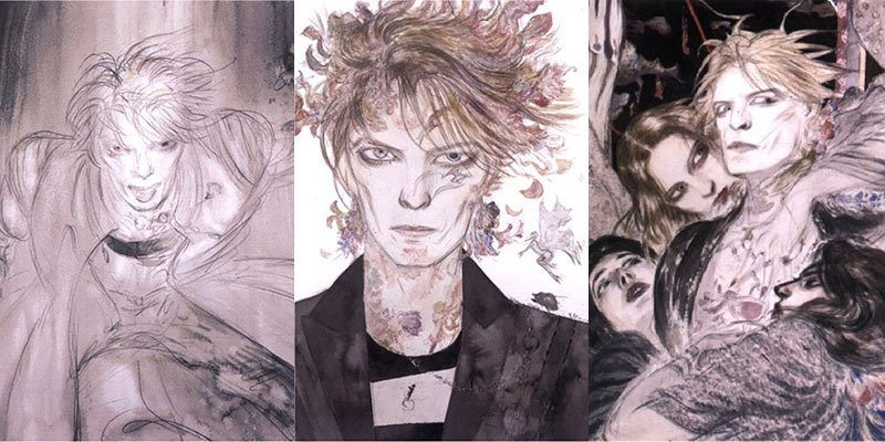 That time @neilhimself and YoshitakaAmano wrote a fantastical origin story for David Bowie: https://t.co/wsJvmd5RJX https://t.co/U5742AByFo