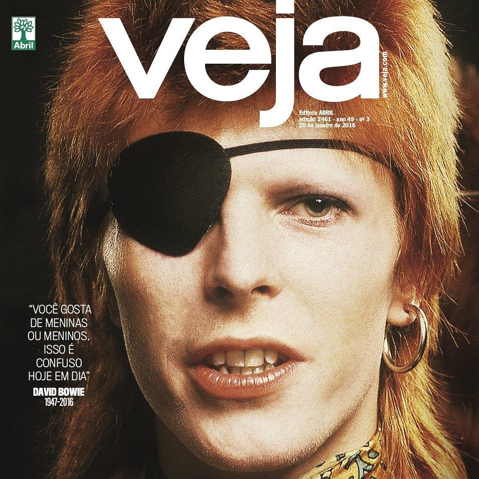 As quatro capas finais de VEJA dedicadas a David Bowie https://t.co/Cx1FO7r4Ma