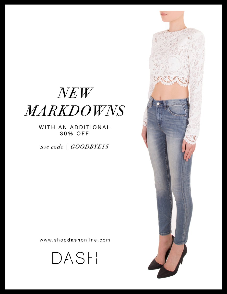 Dolls!!! So much sale stuff at @DASHBoutique (in stores AND online) with code GOODBYE15!!! Get it! https://t.co/VlmrYD72Oz
