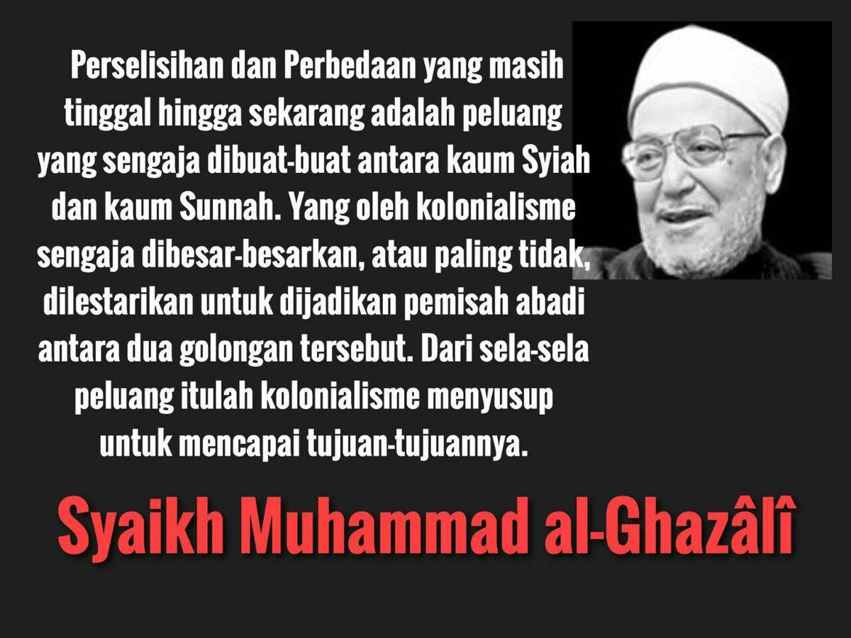 Syaikh Muhammad Al-Ghazali adlh ulama aktivis IM yg smp wafat menolak tinggal di negara kerajaan&memilih Suriah https://t.co/qaN9ZJpE7Q