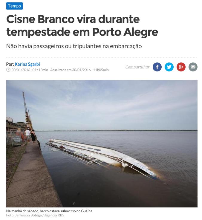 Agora nós temos o nosso próprio Titanic. https://t.co/AtTjHLqkbN