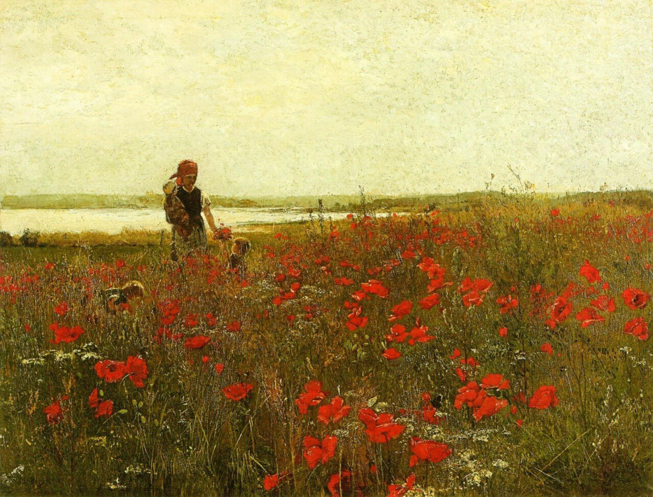 Poppies  John Leslie Breck 1860-1899 https://t.co/pFXrurR9hh