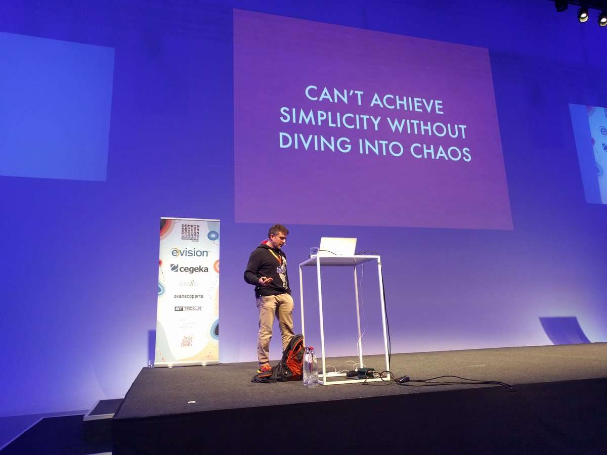 'Can't achieve simplicity without diving into chaos'  @ziobrando #DDDEU #DDDesign https://t.co/ESL9v2lzkq