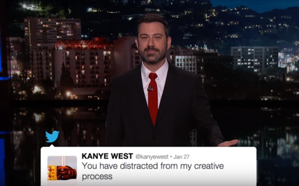 If you missed the Kanye West-Wiz Khalifa Twitter feud, Jimmy Kimmel recapped it for you: