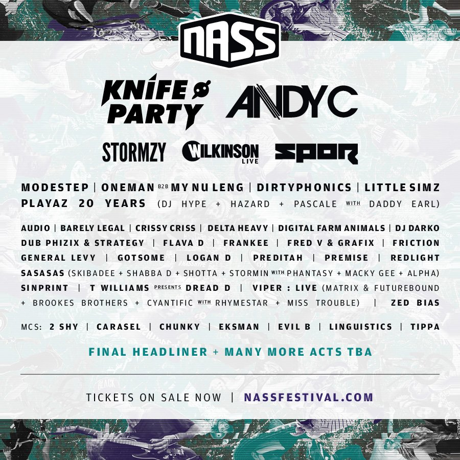 Knife Party, Andy C, Stormzy, Wilkinson + over 40 more confirmed for NASS Festival 2016 https://t.co/kJT94BY8Ix https://t.co/ysbuLWhrWZ