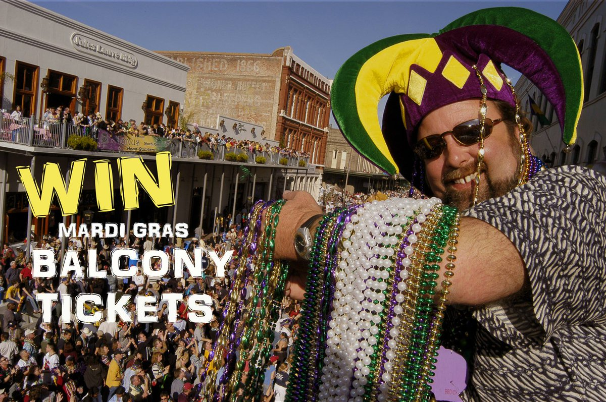 GIVEAWAY: Mardi Gras! Galveston Balcony Party - 2 Tickets for 2/5 King's Court Party! Retweet and Follow Us to WIN! https://t.co/K72PSbQ6oN