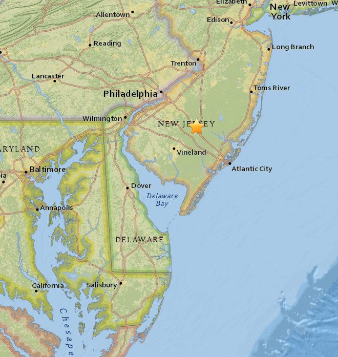 Not an earthquake but a sonic boom in New Jersey: https://t.co/eUr4sB28Wm https://t.co/TQFlkGr633