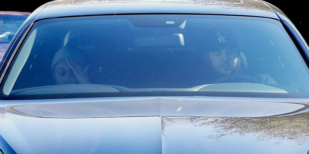 Rob Kardashian and Blac Chyna spotted driving to Kris Jenner's home together