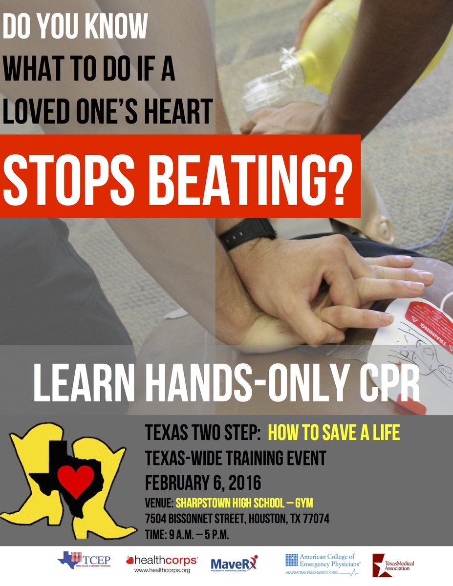 In TX? Learn hands-only CPR, save lives + be part of a Guinness World Record! https://t.co/RW5u6UN2fL #TX2STEPCPR https://t.co/5jVk7PH7cG