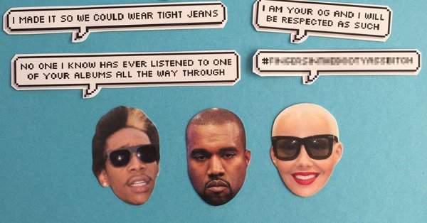 People are making bank off of Kanye West and Wiz Khalifa's Twitter beef, because of course: