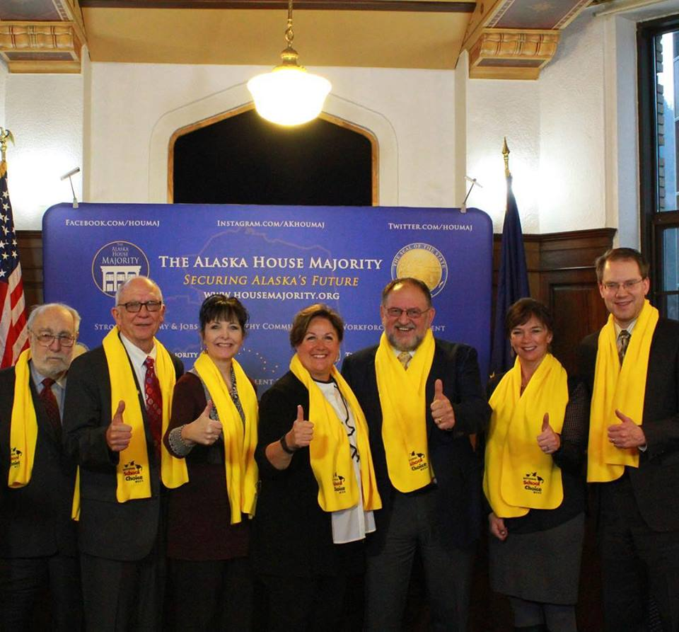 #Alaska State Legislature gathered at the State Capitol to show their support for #schoolchoice https://t.co/8Ndy2Y1EAn