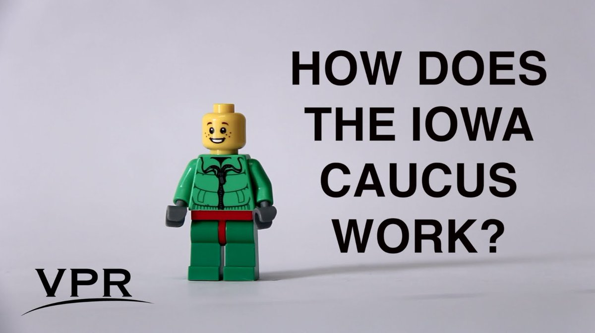 VIDEO: How The Iowa Caucus Works, In 2 Minutes (Starring Legos) https://t.co/UUs03pdqDT #VT https://t.co/5eFUkXpLfo