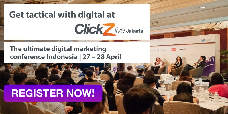 Meet the #Digital #Marketing experts at Jakarta this April! #CZLJKT Register and save 20% https://t.co/PLuqgeBIo5 https://t.co/ZHmidfAkFh