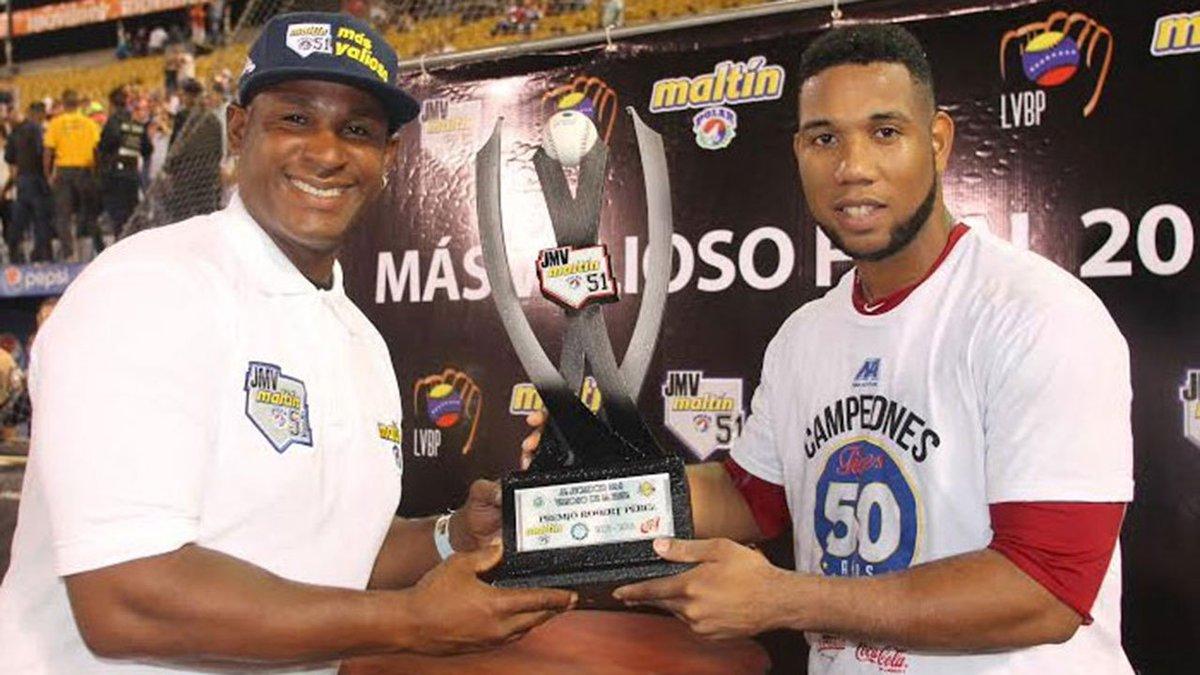 #LVBP El dominicano Alfredo Marte fue el MVP de final donde los Tigres de Aragua se coronaron campeones de venezuela https://t.co/NsdMP0r6UD