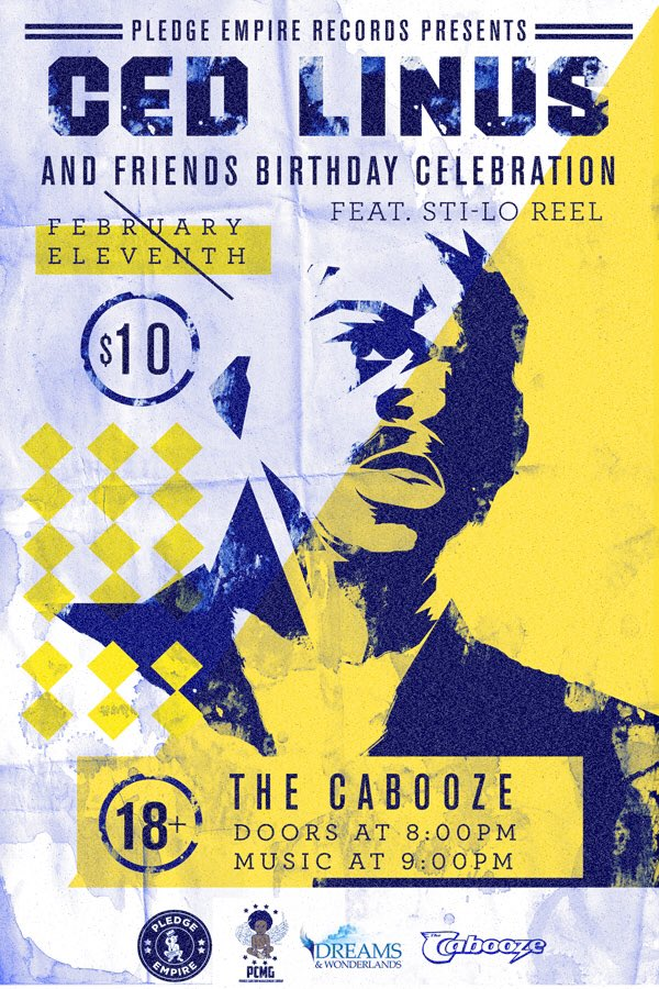 I can't even express how legendary this birthday show for @CedLinus @caboozempls gonna be. Feb 11th 8pm, 18+ https://t.co/LJ59iXEVHK