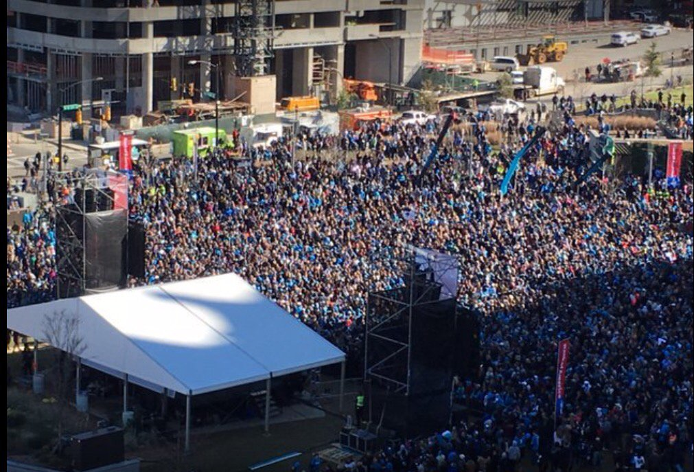 So this Panthers rally is sort of a big deal. #SB50 https://t.co/g6ylS1kcI9