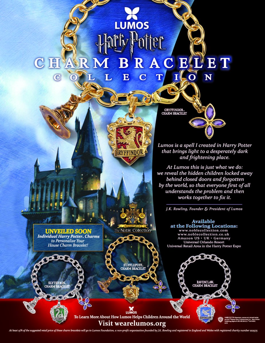Have you seen the @lumos #HarryPotter charm bracelet - launched at #HPCelebration ? Let us know by sharing yr pics! https://t.co/R0DYjyIkoo