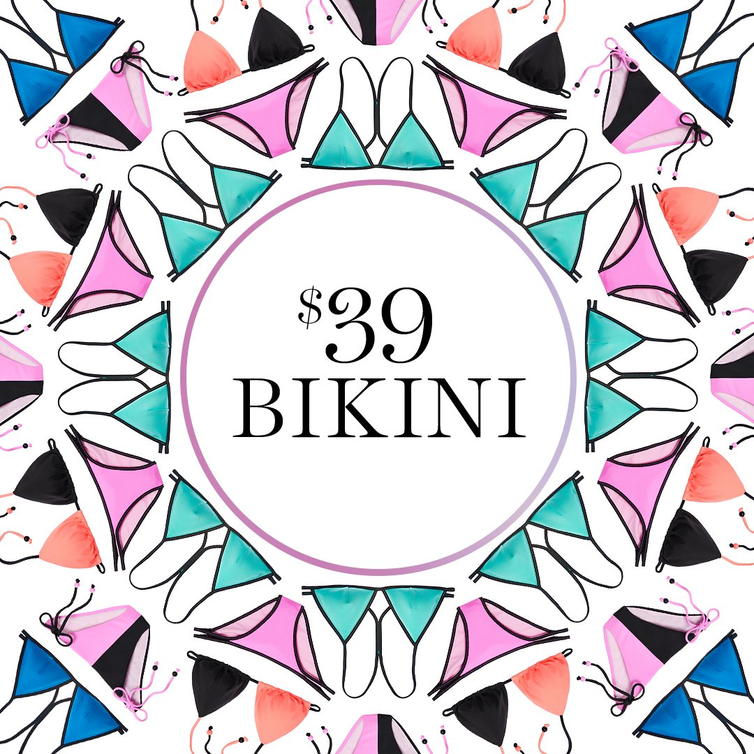 BREAKING: The $39 bikini is back! Online only through 2/1. https://t.co/ttFFmT4IlK https://t.co/h7cuBVGhzX