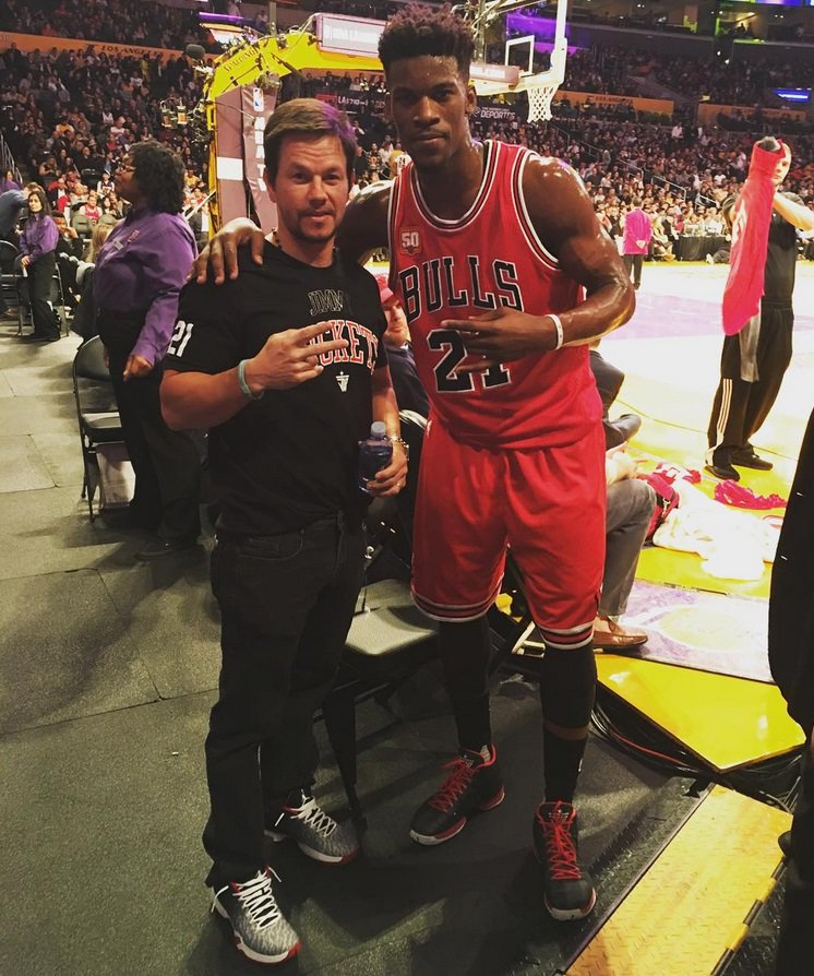 Image result for jimmy butler and mark wahlberg
