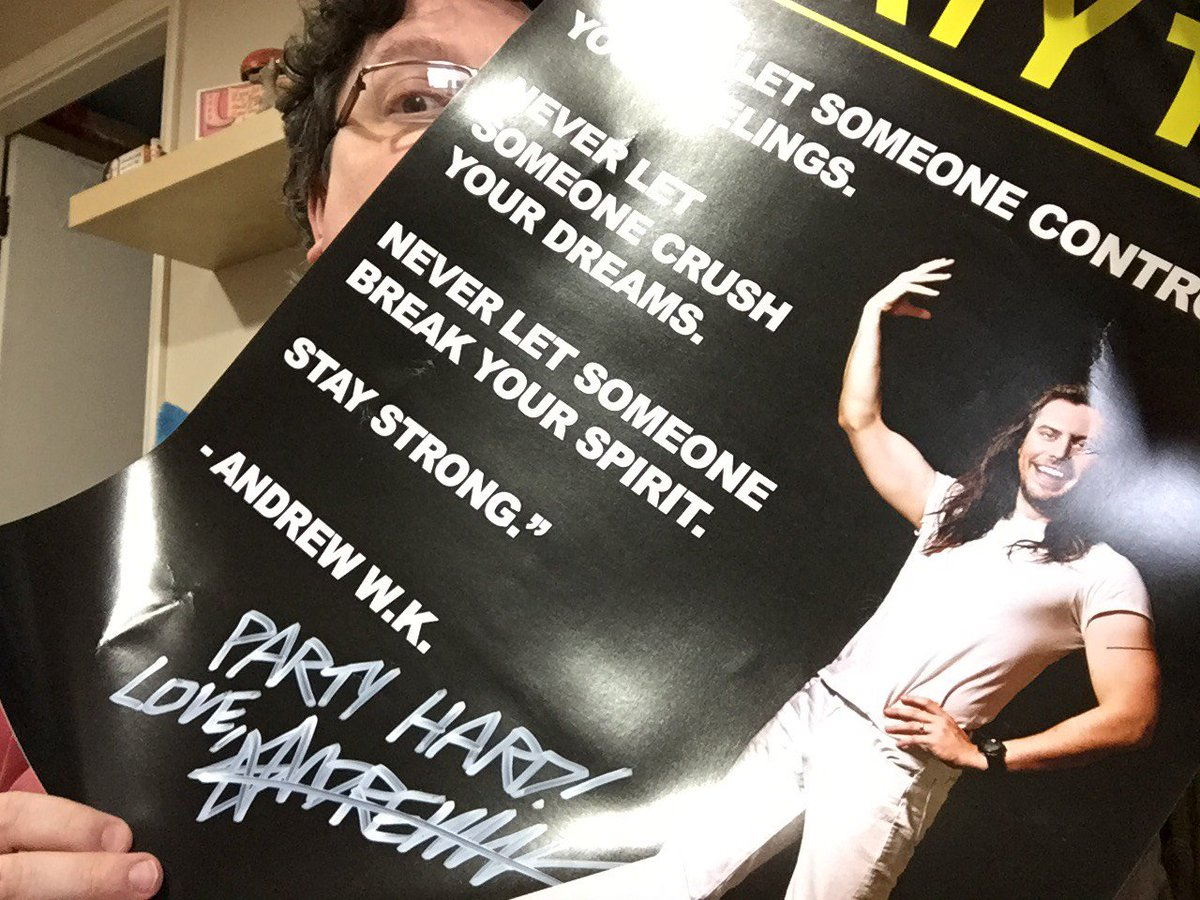 It feels like a little bit of @AndrewWK magic has come to Ealing. #Party #NeverLetDown https://t.co/BuF39sQsJQ