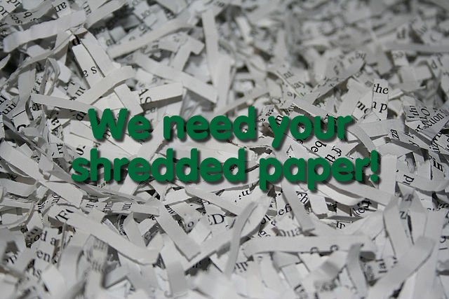 Please RT: We are in desperate need of cross shredded paper for our small furries please donate to any Centre. https://t.co/fVxIZhGF0Y