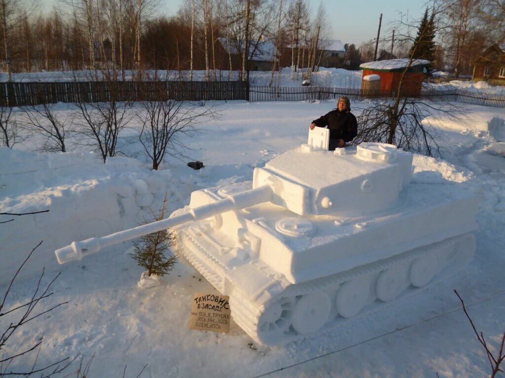 Just what every #WW2 enthusiast needs in their snowy garden. via @Warologist45 on @facebook https://t.co/sfctWm0ONg
