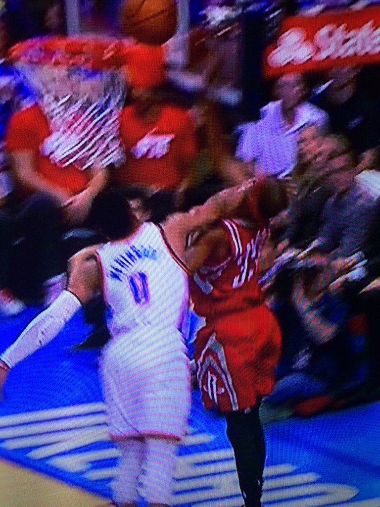 This is not a foul. I mean this was not called a foul. Somehow Brewer still made shot. #Rockets https://t.co/lcky6MHWv1
