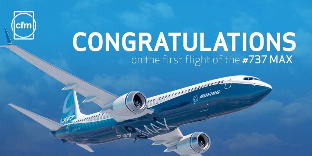 """""""We couldn't be more proud to achieve this milestone with @Boeingairplanes"""" #CFMLEAP #737MAX https://t.co/e1jPA3zobc https://t.co/TKIkMqJr3r"""