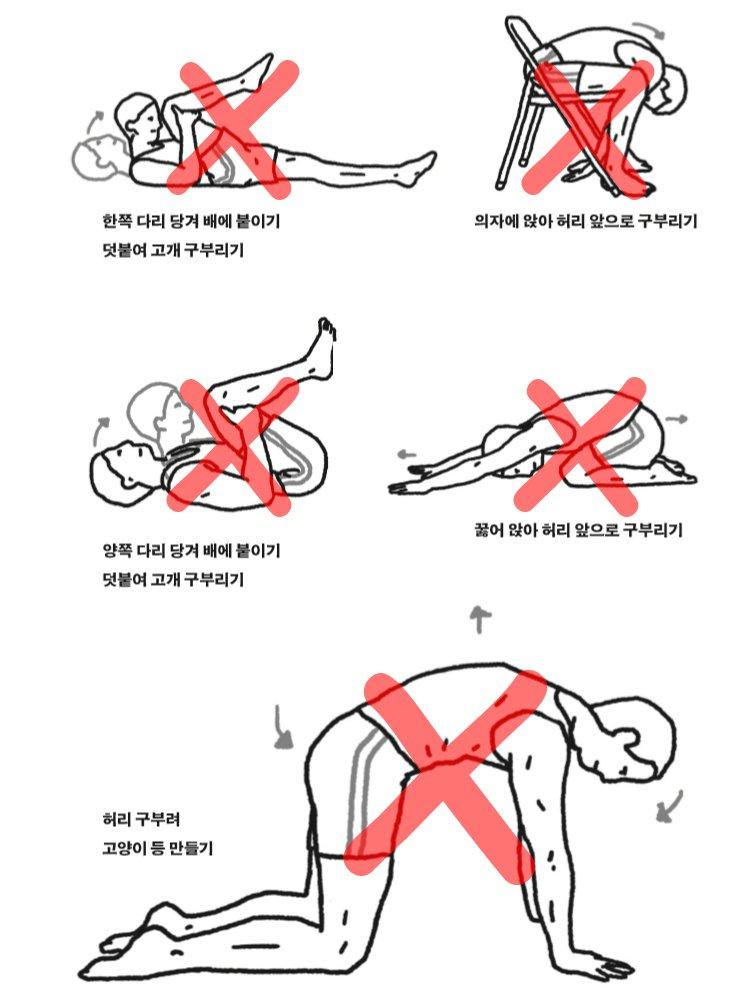 '허리가 아픈 것은 허리 근육 뭉친 것이나 요추 전만 때문이다.'라는 잘못된 믿음에 근거한 나쁜 운동이다. 자주 하면 할수록 디스크가 망가진다. ─ 정선근 교수, 『백년 허리』에서 https://t.co/AYZ3pNLOvx