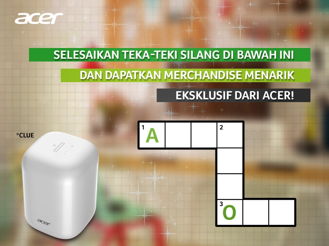 Selesaikan teka-teki silang pd gambar berikut dan dapatkan merchandise eksklusif dari Acer! #WeekendGames https://t.co/Xs6NwI6Qto