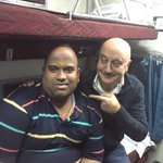 Pandey Ji!!! My fellow passenger in the train compartment. I have already spoken to half his family on phone.:) https://t.co/019Fe3KghZ