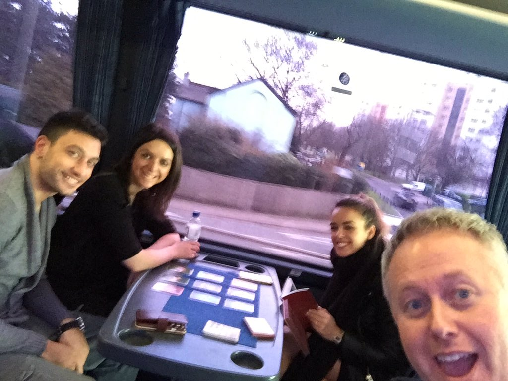 And we're off on the tour bus to Birmingham ! https://t.co/y4Xyt9jm3v