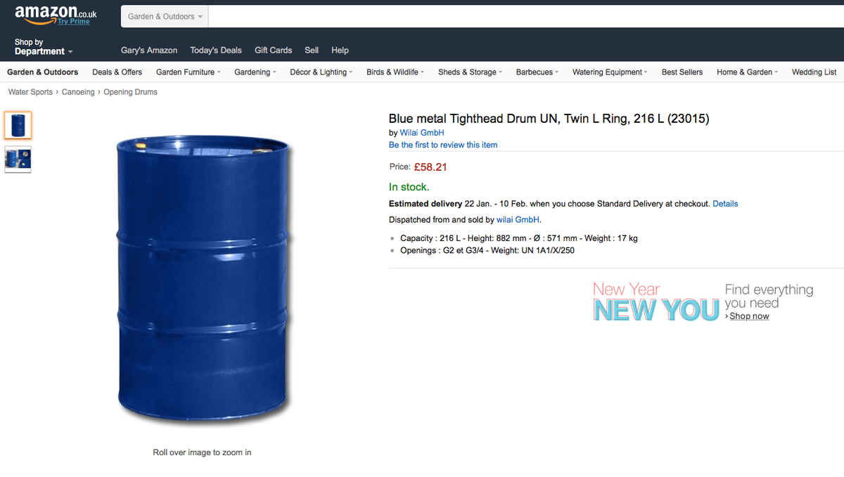 Top Tip* If oil is under $30 per barrel save money by keeping the barrel - they are £58 on Amazon. https://t.co/iC87f9n3zi