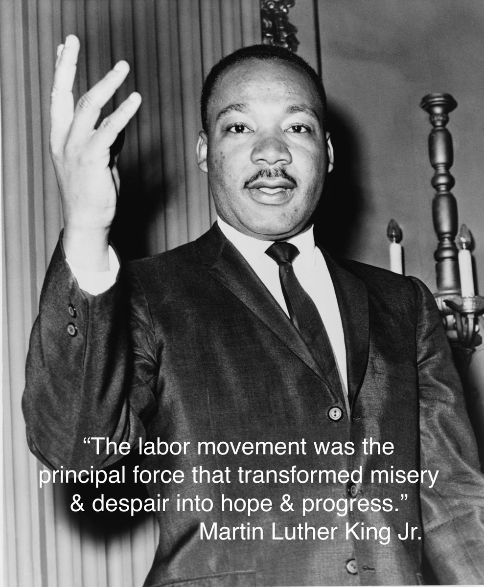 Let's remember Dr. King's commitment to civil & worker rights today & every day as we fight for justice together. https://t.co/LXYxDKe088