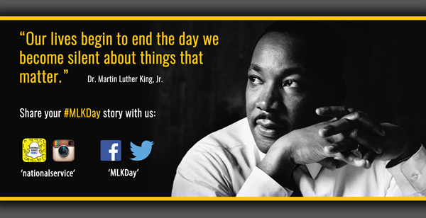 What matters to you on this #MLKDay? Share your #service story. https://t.co/XT8r544ZZs