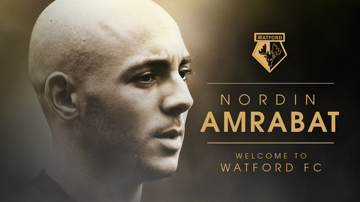 OFFICIAL: #watfordfc are delighted to announce the signing of versatile attacker Nordin Amrabat from Malaga. https://t.co/XDcf33auNj