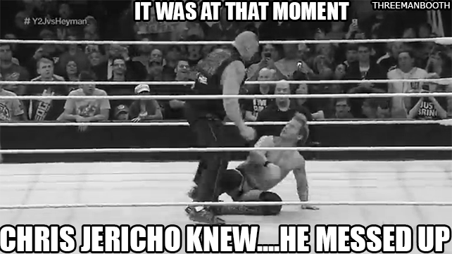 Chris Jericho must've forgotten what happened last time he crossed Brock Lesnar/Paul Heyman. #RAW https://t.co/WinNuAGc5N